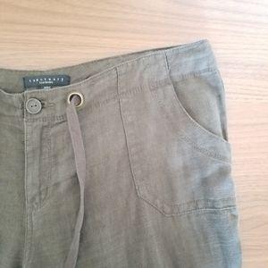 Sanctuary Olive Green Linen Pants